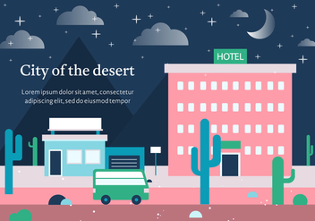 Free Vector City of the Desert - Free vector #378007