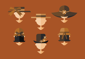 Vector Ladies Hat - vector gratuit #378077
