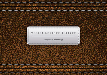 Vector Brown Leather Texture - vector gratuit #378117