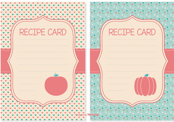 Cute Recipe Cards Set - Free vector #378187