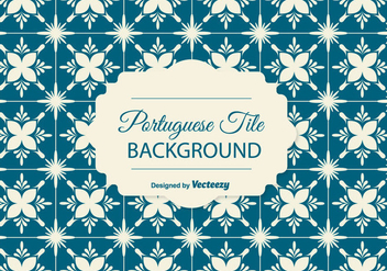 Portuguese Tile Background - vector gratuit #378207
