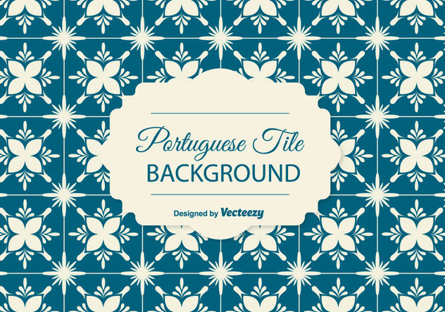 Portuguese Tile Background - бесплатный vector #378207