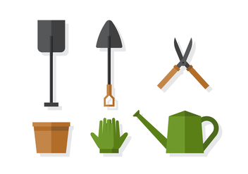 Vector Gardening Elements - vector gratuit #378217