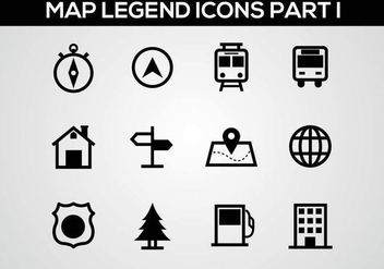 Free Map Legend Part I Vector - Kostenloses vector #378227