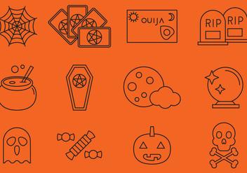 Halloween Line Icons - vector gratuit #378267