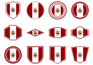 Free Peru Flag Icon Vector - Free vector #378307