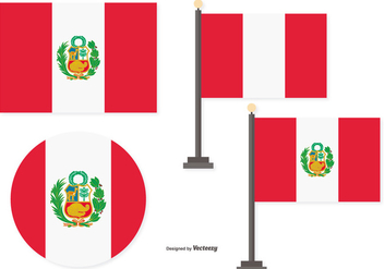 Flags of Peru - vector gratuit #378327