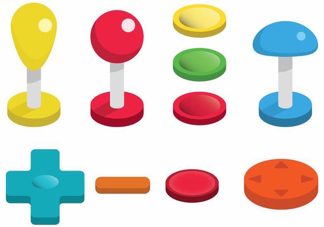Arcade Button Vector Set - Kostenloses vector #378337