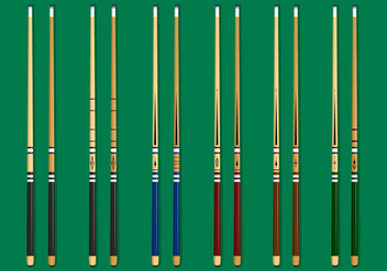 Awesome Pool Stick - Free vector #378347