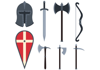 Set Of Templar Vector - Free vector #378387