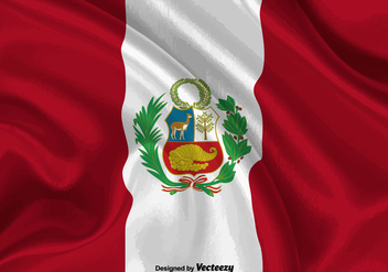 Vector Peru Flag Illustration - Kostenloses vector #378437