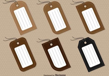 Set Of 6 Vector Tags - vector #378447 gratis