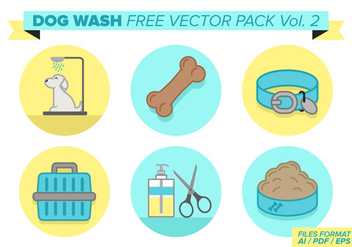 Dog Wash Free Vector Pack Vol. 2 - vector #378457 gratis