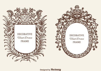 Free Decorative Cartouche Vector Set - Free vector #378467