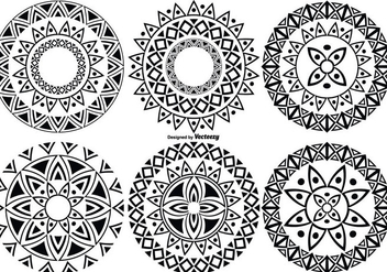 Decorative Cicle Vector Shapes - Kostenloses vector #378497