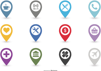 Map Legend Icon Set - vector #378507 gratis