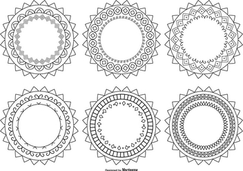 Decorative Circle Shapes - Free vector #378517