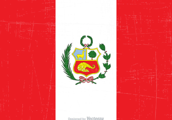 Free Grunge Peru State Flag Vector - Free vector #378527