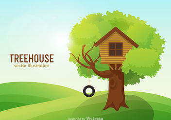 Free Treehouse Vector Illustration - Kostenloses vector #378557