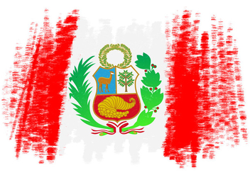 Peru Flag Vector Background - Kostenloses vector #378587