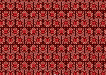 Red Portuguese Tiles Pattern - vector gratuit #378597