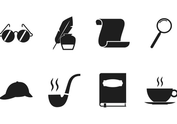 Detective Icon Set - vector #378617 gratis