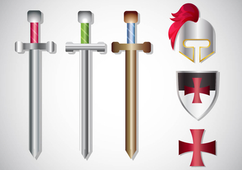 Templar Knight Gradient Vector Set - vector gratuit #378677