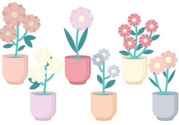 Vector Flower Collection - vector gratuit #378777
