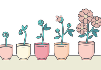 Cute Vector Flower Collection - vector gratuit #378797