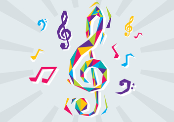 Free Violin Key Vector Illustration - бесплатный vector #378947