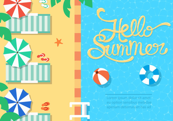 Free Summer Beach Vector Illustration - бесплатный vector #379007
