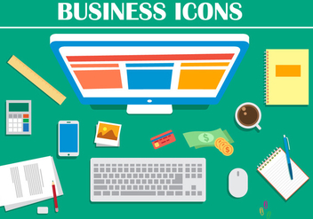 Free Business Office Vector Illustration - Kostenloses vector #379067