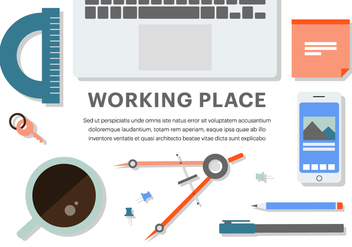 Free Flat Business Office Vector Elements - Free vector #379147