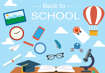 Free Back to School Vector Illustration - Kostenloses vector #379197