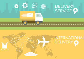 Vector Illustration of Postal Service - Free vector #379217