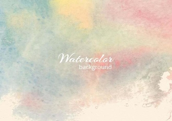 Free Vector Soft Watercolor Blue Background - vector gratuit #379227