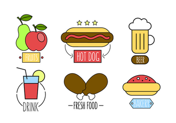 Vector Set of Fast Food Meals - vector #379257 gratis