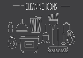 Cleaning Vector Icons - vector gratuit #379297