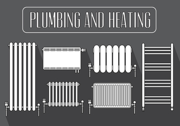 Set of Radiator in Vector - бесплатный vector #379357