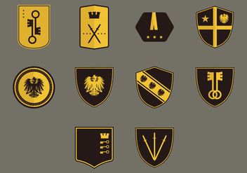 Blason Icon Set - vector #379397 gratis