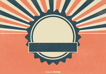 Blank Retro Sunburst Background - Kostenloses vector #379437