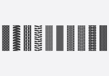 Tractor Tire Icon Set - vector gratuit #379447