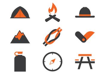 Boy Scout Icons - vector #379637 gratis