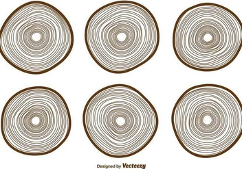 Vector Tree Rings Icons Collection - Free vector #379647