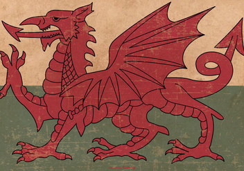 Grunge Flag of Wales - vector #379727 gratis