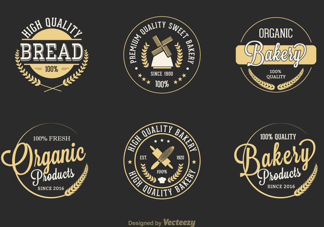 Free Retro Bakery Vector Labels - Free vector #379737