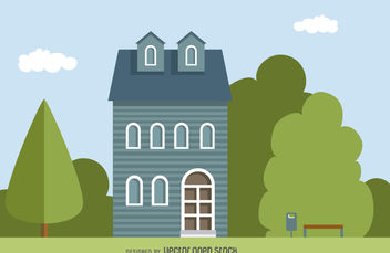 Classic home illustration - vector gratuit #379797