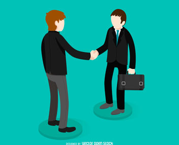 Business handshake illustration - Free vector #379827