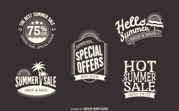 Hipster summer sale labels - vector gratuit #379887