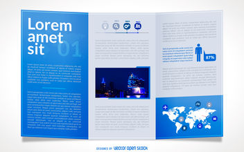 Business brochure mockup - Free vector #380007